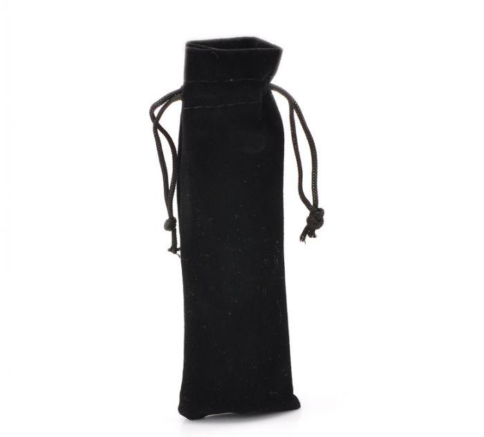 "Retail 10PCs Black Velvet Drawstring Pouches Jewelry Gift Bags 15.5x5.5cm(6 1/8""x2 1/8"")(China (Mainland))"
