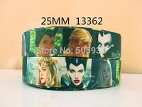 50Y13362 david ribbon free shipping 1'' printed ribbon Grosgrain ribbon for packing and bow garment accessoires