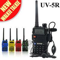 FS! BaoFeng UV-5R Walkie Talkie Transceiver Dual Band Radio 136-174Mhz&400-520Mhz Interphone UV5R 1800mAH Battery Free Earphone
