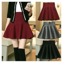 2014 Korean version of the new winter knit pleated skirts tutu skirt umbrella