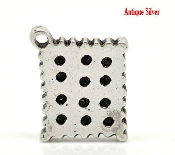 Розничная Старинное Серебро Cracker Шарм Подвески 14x12 мм (1/2 x1/2), продается в упаковке 30