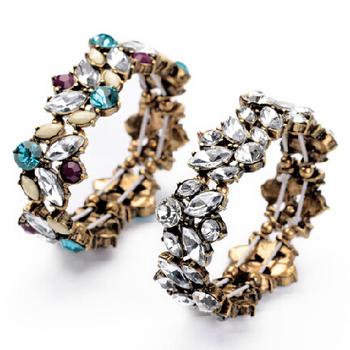 Новый 2014 романтический конструктор бижутерии красочные кристалл резинка браслеты ...