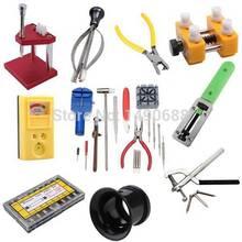 O envio gratuito de alta qualidade Universal 16 pc luxo assista volta caso Repair Kit abridor ferramenta pino de ligação Remover relojoeiro(China (Mainland))