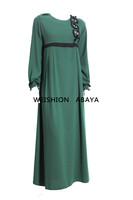 2014 new design polyester abaya muslim girl dress dress islamic