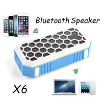 Bluetooth Speaker X6 Super Bass Speakers Wireless Microphone TF U Disk Slot Speakerphone FM Landyard Handsfree for Smartphone