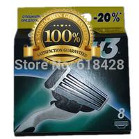 Free Shipping High Quality 16P/L Men's Razor BladesM3 sharpener shaving razors series blades RU&Euro Retail packaging