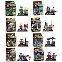 8pcs BATMAN Bruce Wayne Super Robin Hood Hero Avengers Minifigure Model Building Learning&Education Blocks Compatible resin toys