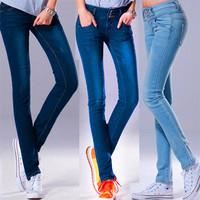 2014 New Jean In Stock women Korean denim trousers ladies jeans wholesale fashion miscellaneous jean hot sale BR RU US UK 4003