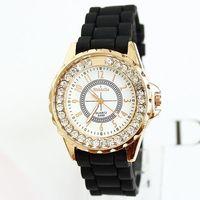2013 Watches Women Fashion Rose Gold Wristwatches Ladies diamonds Silicon Free Shipping