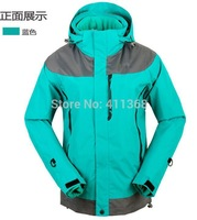 winter 2014 brand high quality 2in1 double layer ski suit fashion women's sports coat outdoor waterproof climbing clothes jacket