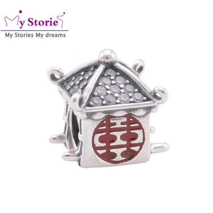 2014 new fashion wedding sedan charms 925 Sterling Silver jewelry making beads fit European bracelet charm DIY assessories YZ674(China (Mainland))