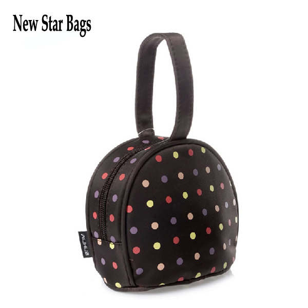 The new arrival Korean style dots cosmetic bag Super cute makeup bag Wrists small purse.TS16A(China (Mainland))