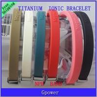 Hot Sale Sports wristbands Titanium Ionic Magnetic Bracelets Power Hologram bands free shipping