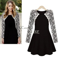 Fashion Long Sleeve Dress Lace Embroidery Dress bandage dress Vintage Women's Fashion Winter Elegant dress Size S-XL b9 CB031795