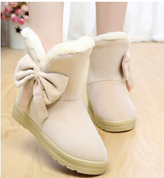 2014 new winter fashion flats women snow boots