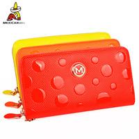 Women's clutch japanned leather women's handbag genuine leather day clutch long wallet design zipper large capacity clutch bag