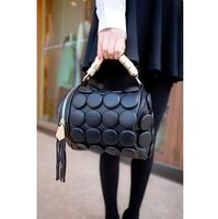New Hot PU large buttons drum bag woman handbag shoulder bag