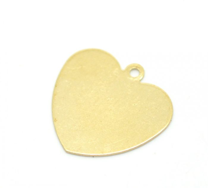 "Retail 50PCs Brass Blank Stamping Tags Love Heart for Necklaces,Earrings,Bracelets etc.18x18mm(3/4""x3/4"")(China (Mainland))"