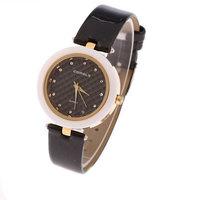 New Design Couture Rhinestone Watches, Hot Sales Ladies Fashion Leather Quartz Watch W-3550
