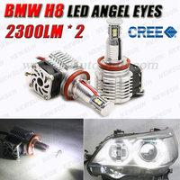 Factory supply 80W 40W H8 LED angel eyes, H8 LED Marker, Cree led angel eyes light for BMW, led angel eyes halo ring light