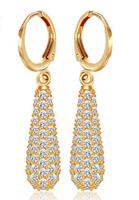 luxury atmospheric water droplets long female fashion earrings hypoallergenic earrings gift