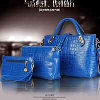 Fashion fashion women's handbag for Crocodile one shoulder cross-body bag genuine leather handbag