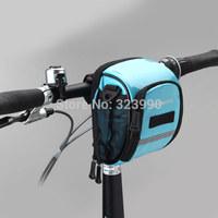 ROSWHEEL riding back front bag equipment  bike bag Cycling Frame Tube Panniers Waterproof Phone Bag Blue color