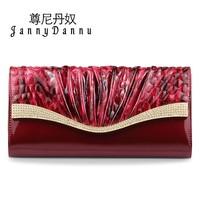 Johnny rocket female day clutch diamond fashion clutch cowhide women's handbag 2014 one shoulder small bags