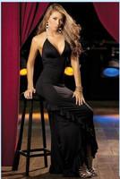 High Quality Material Women Dress Evening Party Elegant Long Dress Sexy Sleeveless Strap Backless Dress