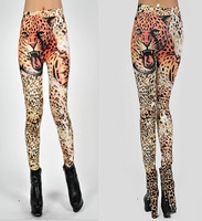 fashion leopard leggings women 2014 punk Tiger print stretch leggings ladies pants