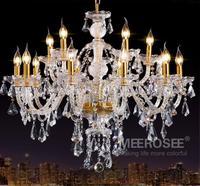 Bohemia Classic Clear Crystal Chandelier Light Fixture Glass Lustre Lamp 15 lights cristal light