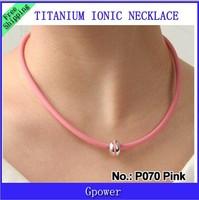 10pcs/lot P070  Titanium  Ion Ionic necklaces power health necklace tourmaline necklet free shipping