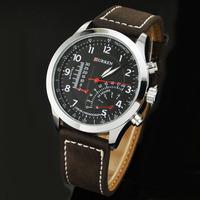 Big Promotion Hot-Sale Curren Waterproof Quartz Business Men's Watch,Men Military Cow Leather Watch