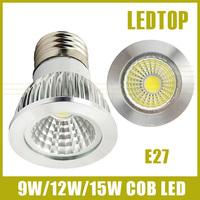 10PCS E27 CREE dimmable 9w/12w/15w High power led COB Spotlight  85-265V warm/cool white replace 30w/50w/70w Halogen lamp