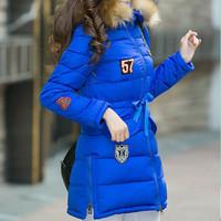 free shipping women winter jacket coat long design faux raccoon fur hood coats for women women's  thermal  overcoat 5 color 3xl