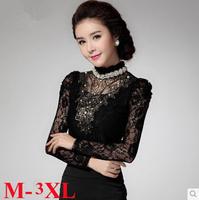3xl desigual lace ladies blouses Autumn undershirt women lace blusa denim shirt Women'S Clothing