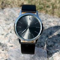 Free ship PU Leather Wristband Round Shape Fashion Analog Quartz Eletronic Clock Mens Dress Wrist Watch free shiping