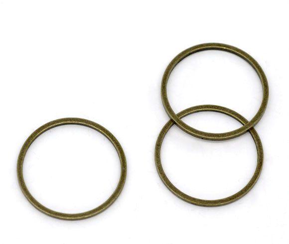 Retail Bronze Tone Closed Jump Rings Findings 16mm Dia.sold per pack of 100(China (Mainland))