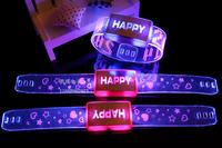 Electronic Christmas light emitting small gifts flash strap glow bracelets wrist length belt decoration