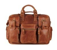 7028B-2 2014 Rare Crazy Horse Leather Men's Business Briefcase Laptop Bag Dispatch Shoulder