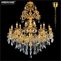 Luxurious Gold Large Crystal Chandelier Lamp / Light / Lighting Fixture 3 tiers with 29 arms 29 Lights Fast Shipping