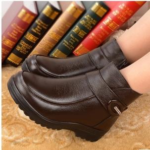 Outono botas mulher shooes lrather botas inverno quente e confortável botas de algodão sapatos de algodão de couro(China (Mainland))