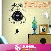 Iron swing hanging birds Bedroom Living durable digital watches, home decor, wall clock modern design, wall clocks large, crafts