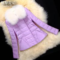 2014 new Haining leather female fox fur sheep skin jacket straight cylinder
