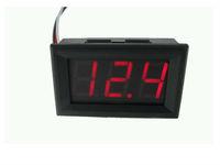 """Red LED display Color 0.56"""" Digital Voltmeter DC 3.2-30.0V 3bit 2 wires Vehicles car Motor Voltage Panel Meter"""