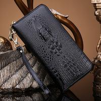 Bau lo 2014 women's Crocodile japanned leather for wallet genuine leather fashion zipper vintage day clutch