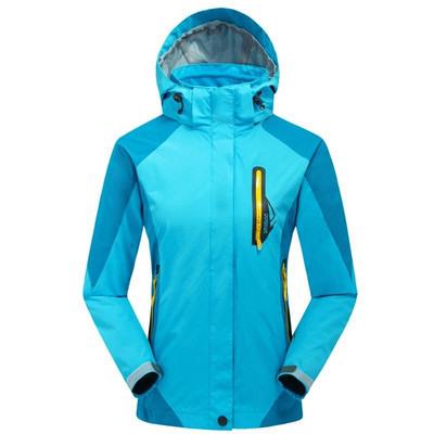 S-XXL 2014 new winter outdoor jacket woman warm fleece inner waterproof windproof 3in1 Camping hiking trekking windbreaker(China (Mainland))