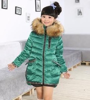 Children's down jacket women after a short holiday before the two women hooded fur collar down jacket Kids