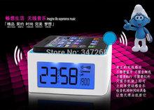 Wireless Inductive Speaker Sound Box for Smartphones FM Radio Digital Clock Alarm and temperature show