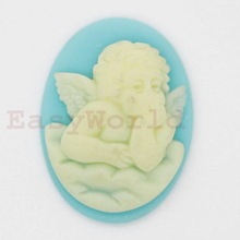 Mini Angel Cabochon Silicone Mold For Polymer Clay Jewelry Cameo 18x13mm